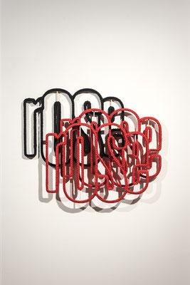 Barbara Reck-Irmler · rose Installation, 5 Teile · 2020 · Textil, Schichtholz, 5 Teile · 157 x 123 x 5 cm