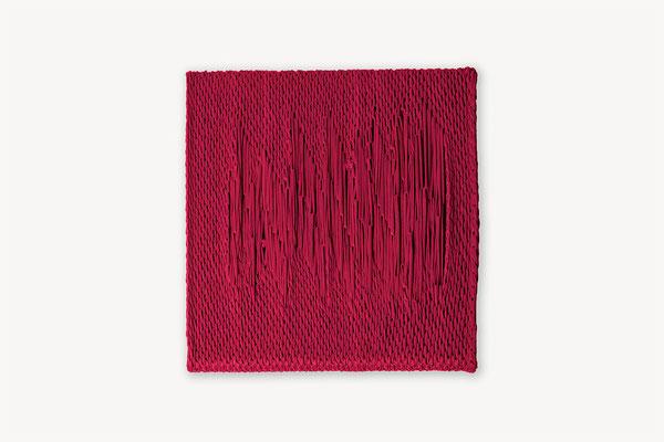 Barbara Reck-Irmler: Board 8 • 2017 • textile, wood  • 45 x 45 cm