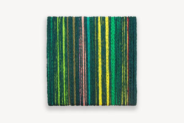 Barbara Reck-Irmler · BOX Nr. 14 · 2018 · Textil, Schichtholz · 70 x 72 x 10 cm