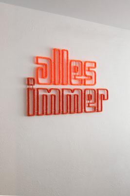 Barbara Reck-Irmler · alles immer · 2020 · Textil, Schichtholz · 68 x 107 x 3 cm