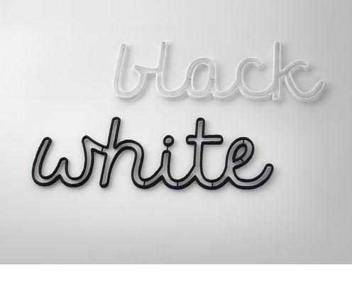 blackwhite • 2015 • Textil, Schichtholz • 142 x 45 / 149 x 45 cm