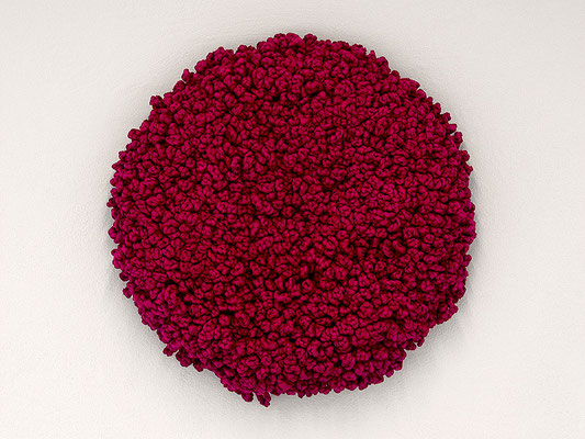 Barbara Reck-Irmler · FLOWER, 2017 · Textil, Schichtholz · Ø 70 cm