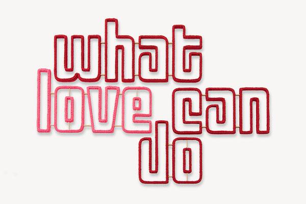 Barbara Reck-Irmler ·  what love can do · 2020 · Textil, Schichtholz, 4 Teile · 137 x 97 x 2,5 cm