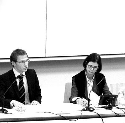 Benjamin Boutin avec S.E.M. Pascale Andréani