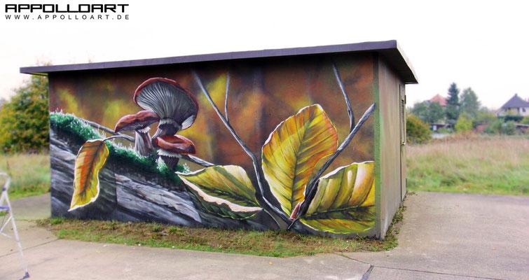 Landschaftsgraffiti Airbrush -Berlin Graffitikünstler