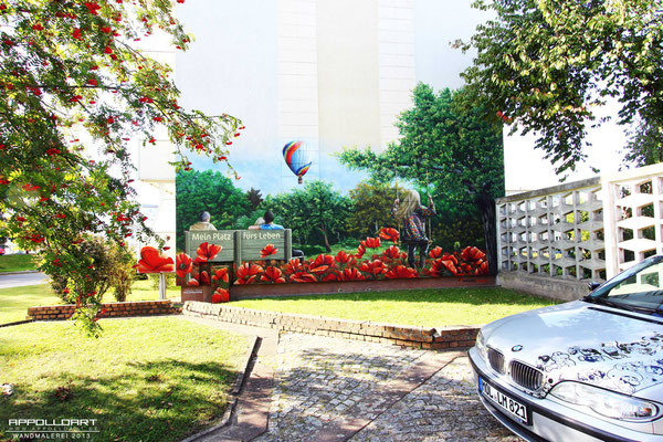 Wandmalerei Fassadenmalerei Berlin- Fassadenkunst Prenzlau Berg
