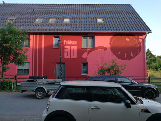 Giebelwandgestaltung Bemalung- Graffiti Auftrag Wuppertal Berlin Brandenburg Art