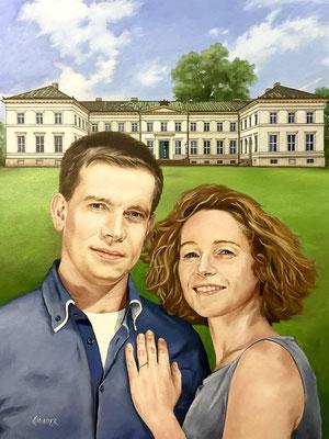 Portrait gemalt Familie Auftragsmalerei Preise -Hamburg