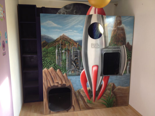 Kinderzimmer Gestaltung Wandbild. Was kostet ein Wand Graffiti Kiel