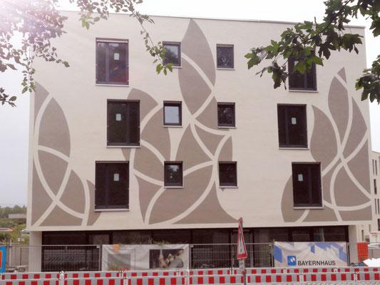 Fassadendesign gemalt im Auftrag von Bayernhaus Firmengestaltung Wohnhaus