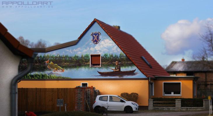 Wandmalerei Polen Berlin Graffiti-Bilder an Fassadenwand wand