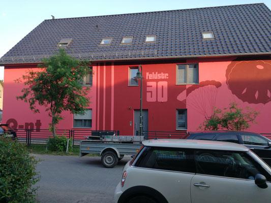 Fassadengestaltung Giebelgestaltung Fassadenkunst in 3d mit Wandkünstler Duisburg Berlin Potsdam