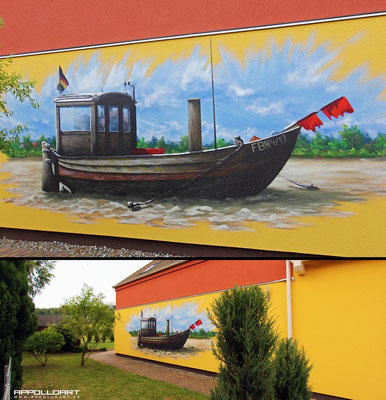 Ostsee Graffiti- 3d Malerei -Fassadenmalerei- Fassadenkünstler