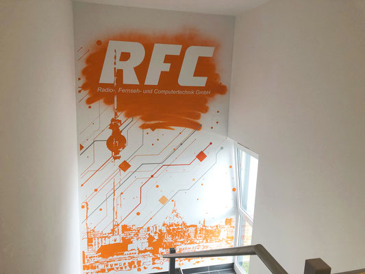 Firmenlogo Wandwerbung -Berlin Adlershof Graffiti Wandmalerei
