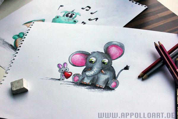 Comiczeichnung für Kinderzimmergestaltung -3d Malerei Bonn