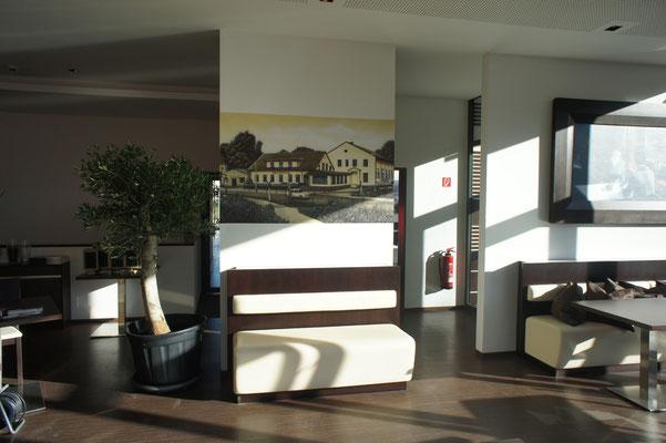 Gaststätte bemalt auf Innenwand mit Airbrush Pistole