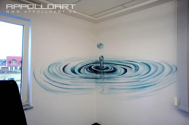 malereische Illusionsmalerei im Büro mit Wandbildern per Graffiti