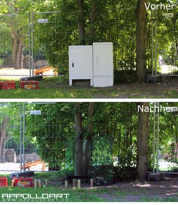Fassadenkunst in 3d vom- Graffiti Sprayer Stuttgart