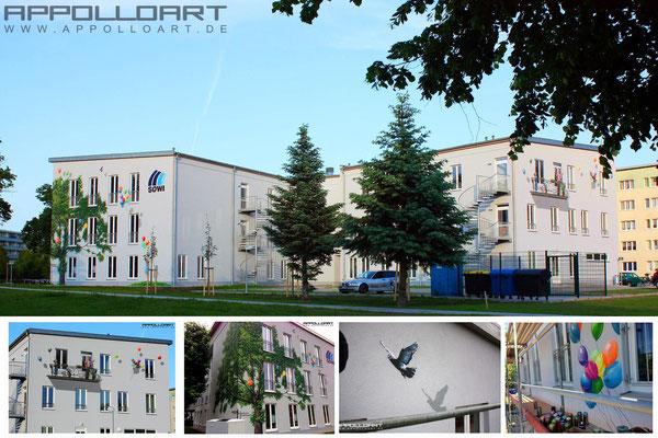 Märkisch Oderland Fassasenkunst aus Strausberg für Wohnungsbau Unternehemen