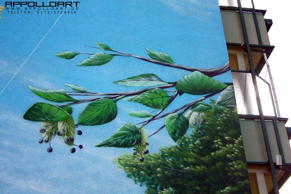 Graffitischutz mal anders mit Hilfe eines Wandbildes durch Graffitikünstler aus Brandenburg und Sachsen