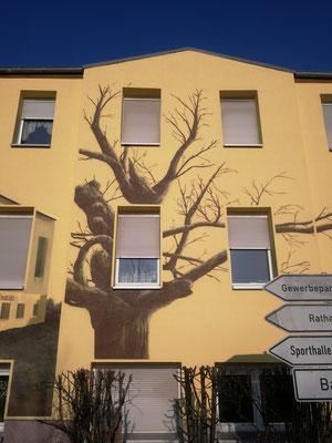 Fassadenbild in 3d Graffiti auf Fassade Berlin Brandenburg Potsdam