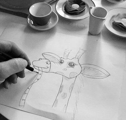 giraffe für das kinderzimmer indoor 3d malerei entwurf