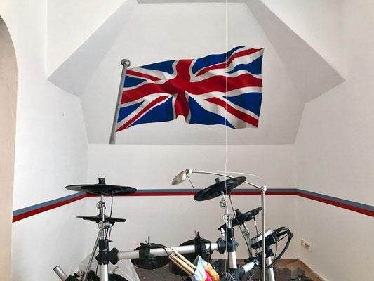 Jugenzimmer mit 3d Flagge verschönert