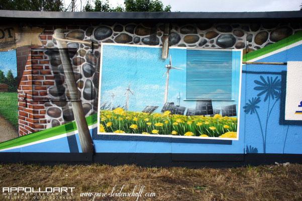 Wir erwecken ihre Fassade oder Wand zum Leben - Deutschlandweit. Graffitiauftragsarbeiten