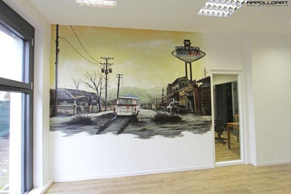 Büro neu gestalten mit Wandbilder in Berlin durch Architekten