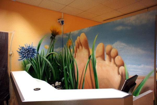 Innenraum Graffiti für die Füße:) Berlin Marzahn