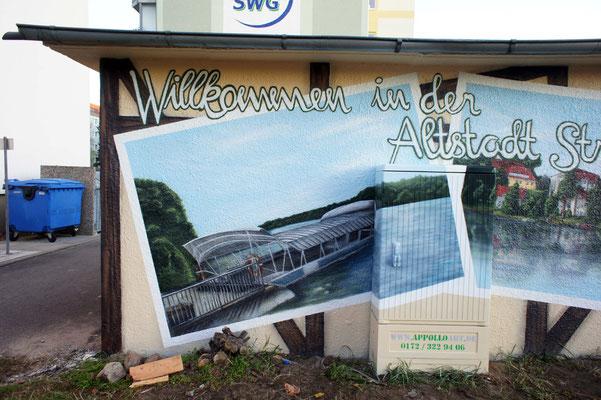 Fassadenwandmalerei Berlin Dresden Köln ostsee