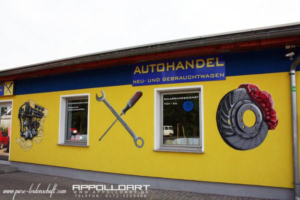 Werstatt Fassadenmalerei zur Werbe und Verständniss Zwecken in Mol