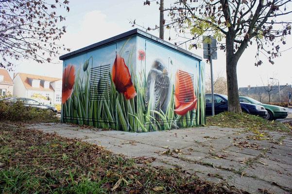 Fassadengestaltung Einfamilienhaus Graffiti