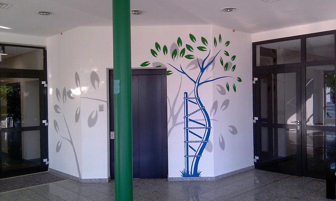 Eingangsgestaltung der Firma OTB - Hoppegarten Wandmalerei