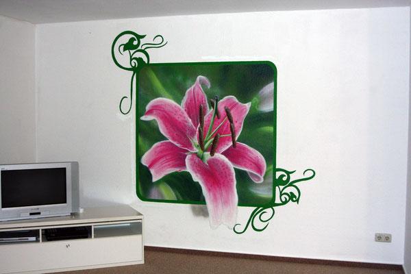 Wohnzimmergestaltung Malerei