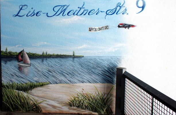 Graffitikünstler aus Postdam Wandkunst Tiefgarage