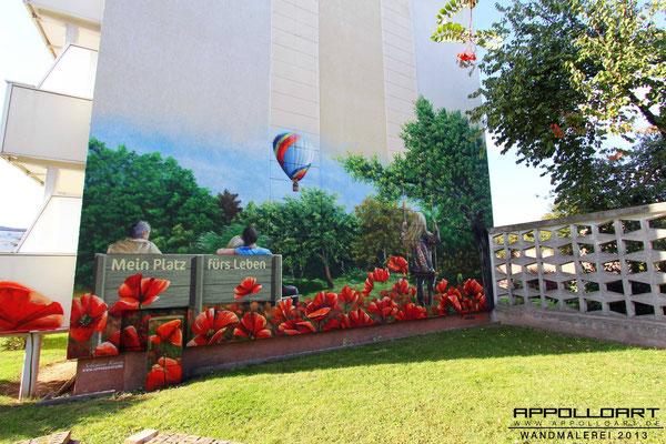 Fassadengiebel Giebelmalerei Bernau Eberswalde Prenzlau Wohnfassade Graffiti