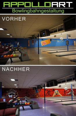 Innenraum Graffiti Wandmalerei Strausberg Hannover