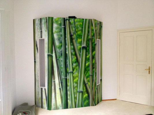 Naturillusion gemalt im Wohnbereich. Wellness in Brandenburg Mol