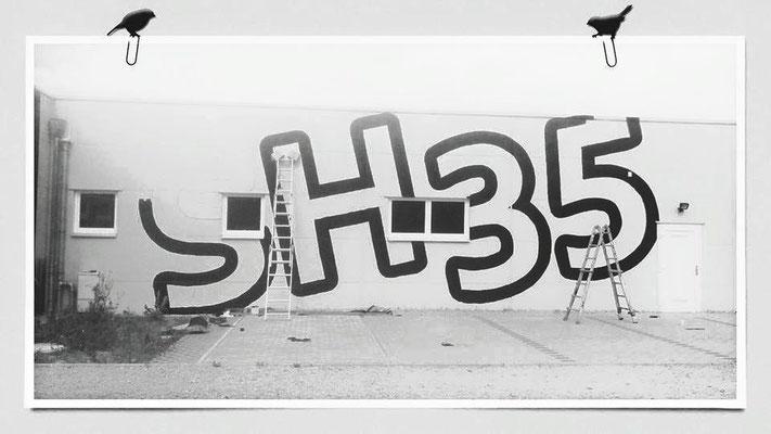 Fassadengestaltung Werbung Firmenwerbung Graffiti Wandgestaltung