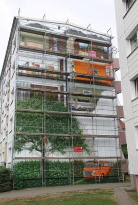Ideen Wandmalerei, Fassaden Wandmalerei, Fassadenmalerei Preise, Fassadenmalerei Berlin, Prenzlau, dazu gehörte Wände streichen abkleben,