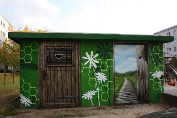 Kunst im öffentlichem Raum Bilder Graffiti - Fassadengestaltung in 3d