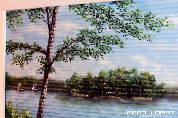 Hotel durch Airbrush und Graffiti verschönert