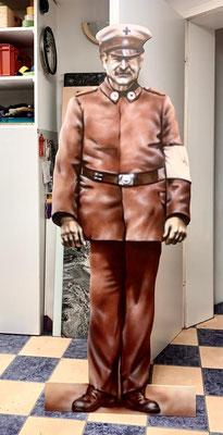 Figur Airbrush- Schausteller Bremerhafen