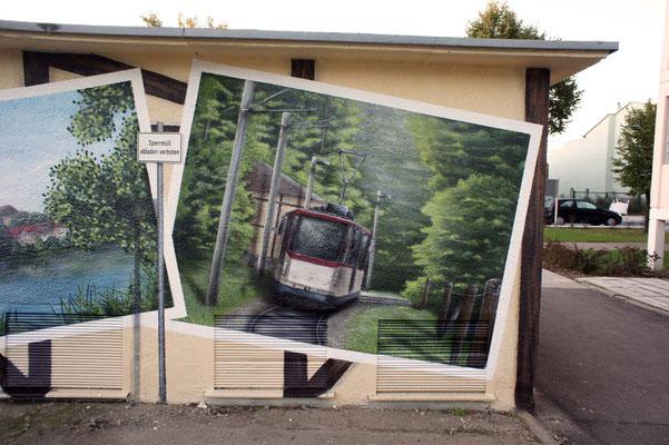 Wandbilder in 3d Graffiti  Leipzig Schweiz Österreich