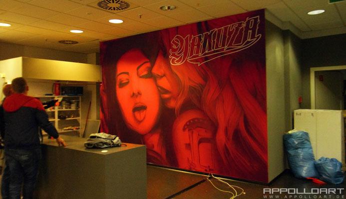 yakuza Shop Berlin-Innenraum Malerei Verkaufsraum