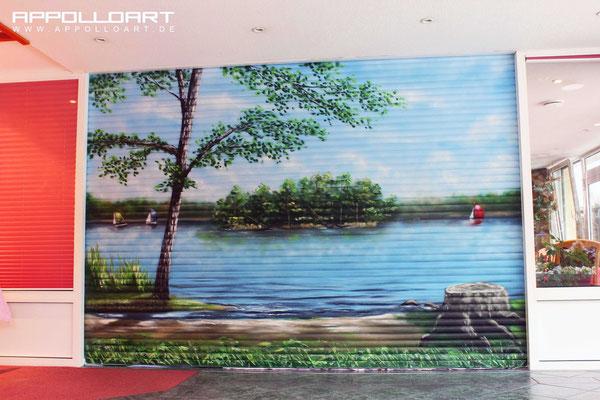 Hotel bemalen Suite Airbrushen Magdeburg-Wandmalerei