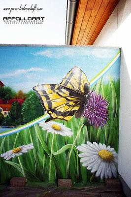 Tierbild mit der Airbrush-Pistole gemalt auch für Fassadenmalerei Fassadenkunst geeignet