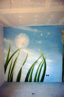 Kinderzimmer Schlafbereich Innenraumgestaltung mit Airbrush Seelow