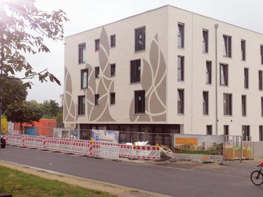 moderne Fassdadenmalerei in Dresden durch Wandmalerei